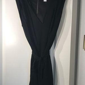 Helmut Lang Black Tie Romper | Size M